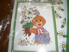 Janlynn Cross Stitch kit Suzy's Zoo FRIENDS & FLOWERS Opened but never used