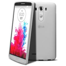 Coque Housse Pour LG G3 Semi Rigide Extra Fine Mat/Brillant Blanche