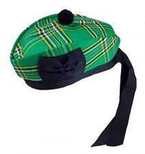 Irish Glengarry with Black Pompom Wool Scottish Kilt Hat  | Scottish K