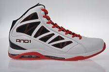 [NEU] Original AND1 ENTOURAGE MID Basketball weiß schwarz Schuhe Sample Gr. 42,5