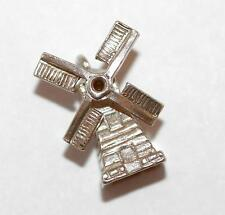 Nuvo Moving Windmill Sterling Silver Vintage Bracelet Charm With Gift Box 2g