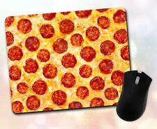 New listing Food ~ Pizza, Pepperoni, Cheese, Gift, Decor, Desk Accessory ~ Vivid Mouse Pad