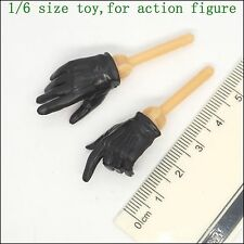 XB74-17 1/6 Scale HOT Female Black Glove Hands TOYS CG CY TAKARA ZCWO