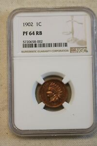1902 1C Indian Head Cent NGC PR64RB