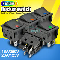KCD4 4/6PIN DPST/DPDT 16A/30A 250V Rocker Boat Switch Terminals ON/OFF 25*31MM