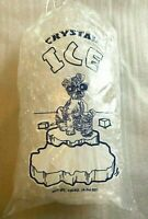 500 Commercial CRYSTAL Sparkling 10 LB LBS Plastic Ice Bags With Drawstring NEW