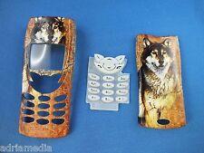 FRONT COVER POSTERIORE tastiera Nokia 8210 CHASSIS GUSCIO Custodia Cellulare Keypad CANE NUOVO