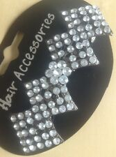 A Beautiful Diamond Design Metal Barrette Hair Clip With Pretty Diamanté Stones