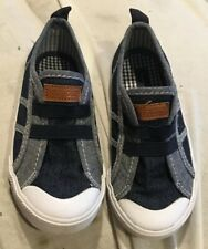 Tommy Hilfiger Slip On Canvas Sneakers Boat Shoes *LIL BAILEY Dark Blue *NEW