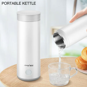 Portable Travel Kettle Electric Hot Water Boiler Tea Mini Heater Thermos Bottle