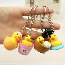 Cute Yellow Duck Keychain Cartoon Animal Bag Hanging Pendant Keychain Keyring HV