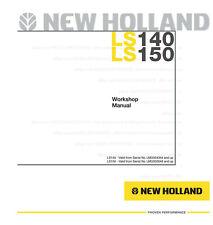 New Holland Ls140 Ls150 Skid Steer Printed Repair Service Workshop Manual