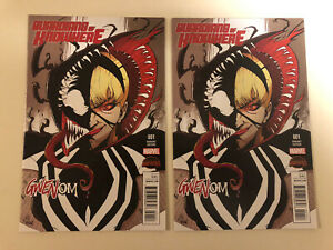 GUARDIANS OF KNOWHERE 1 Gwenom Variant X2 1st Appearance 2 Copies