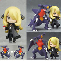 "Pokemon Cynthia & Garchomp Action Figure 4"" Pocket Monster Model Toy Gift In Box"