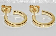 9ct Yellow Gold on Silver Huggie / Cuff Stud Earrings - New - Men's or Ladies