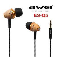 Awei Super Bass Wooden Headphone Stereo Earphone Headset For iPhone Samsung HTC