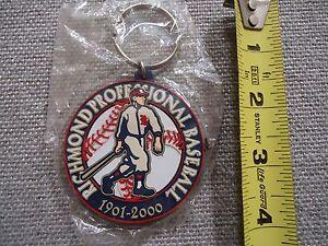 RICHMOND Professional Baseball 1901 - 2000 Braves Rubber Keychain SEALED