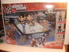 NEW WWE Wrestling StackDown Smack Down Ring WARRIOR BUILDING BLOCKS TOYS mattel