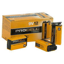 "12  x Genuine Duracell Procell ""9V"" batteries PC1604"
