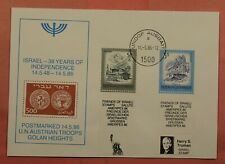 1986 Austria Judaica Stamps With Inscription Tab Israel 30Th Aniv Independence