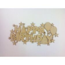 Happy Birthday mdf sign wood craft wooden craft sign wood sign A140
