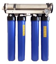 The Shark 600 GPD Commercial Reverse Osmosis Aquarium RODI Filter System Dual DI