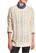 NWT $89 Banana Republic Flaxseed Beige Tan women's Tunic Sweater Sz L (12-14)