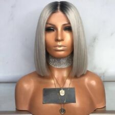 UK Womens Ladies Real Natural Short Straight Hair Wigs Bob Style Cosplay Wig