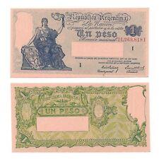 ARGENTINA NOTE 1 PESO (1941) PREBISCH-BOSCH SUFFIX I B# 1821 P 251a UNC