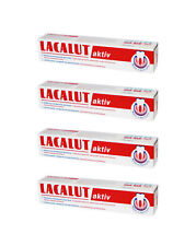 4 x LACALUT aktiv 4x75ml Daily Medical Toothpaste,bleeding gums,FREE SHIPPING