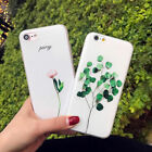 Ultra Thin Floral Pattern Rubber Soft TPU Gel Case Cover For iPhone 8 7 6S Plus