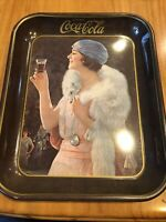 Vintage Coca Cola Flapper Girl Serving Tray 1973 from 1925 Advertisement