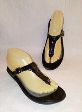 DANSKO Black Patent Leather Thong Sandals Flats Slides Women's EU 37/ US 6.5 - 7