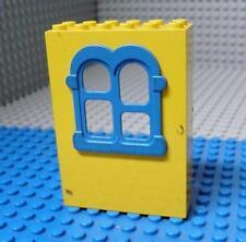 LEGO Fabuland Building Wall 2x6x7 with Squared Blue Window x 1PC