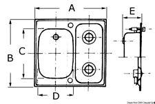 Lavello destro + 2 fuochi  inox piccolo | Marca Osculati | 50.101.74DX