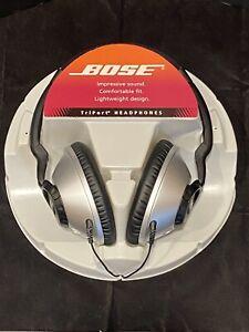 BOSE TRIPORT AROUND EAR HEADPHONES TP-1A BLACK SILVER NEW!