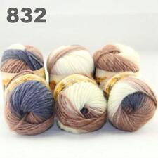 6Balls x 50g Chunky DIY Needle crafts Hand-Woven Knitting Scores Wool Yarn 32