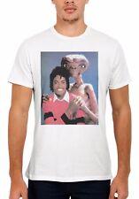 Alien E.T. Hugs Michael Jackson Men Women Vest Tank Top Unisex T Shirt 2037