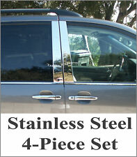 2004-2010 Toyota Sienna Chrome Pillar Post 4Pc Trim Stainless Steel Door Cover