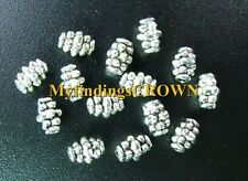 400PCS  Tibetan Silver dotted barrel spacer beads FC85