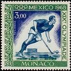 "MONACO AERIEN N°92 ""JO DE MEXICO, HOCKEY"" NEUFxxTTB"