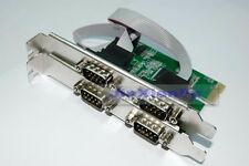 PCI-Express I/O card 4-Serial Ports DB9 COM Rs-232 Extender Adapter