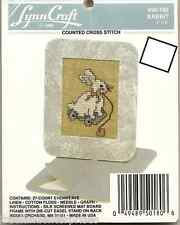 CRAFTS Cross Stitch LynnCraft Rabbit Picture Size 4 inch X 5 inch ~Kit #50-180~
