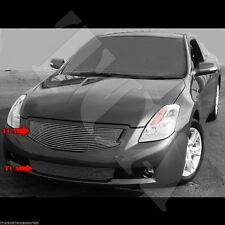 For 2008 08 2009 09 Nissan Altima Coupe Grille Combo Inserts Overlay Set Bumper