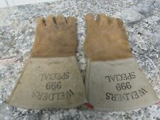 Leather Welding Gloves Welders 999 Special Size Large Used In Good Condition
