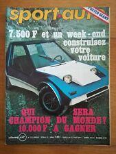 sport auto n°133 1976 MONTE CARLO MATRA SHADOWS DN 1 SANS POSTERS