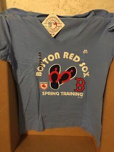 Womens Boston Red Sox Spring Training Baseball Shirt Florida Blue Park X-Large