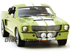 SHELBY COLLECTIBLES 1:18 1967 FORD SHELBY MUSTANG GT 500 GREEN W/WHITE SC186