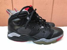 EUC AIR JORDAN BASKETBALL SHOES US 12 428817-003 MICHAEL BLACK FIRE RED