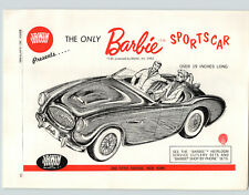 1962 PAPER AD Irwin Toy Barbie Ken Doll Convertible Car Auto